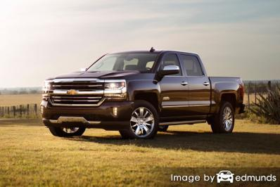 Insurance rates Chevy Silverado in Sacramento