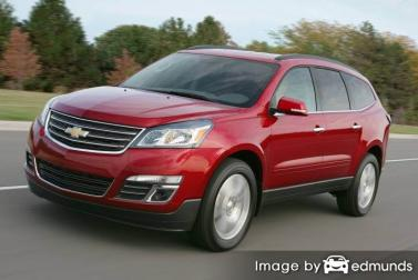 Insurance rates Chevy Traverse in Sacramento