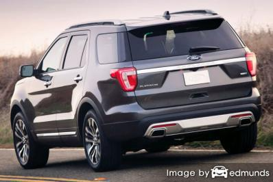 Insurance rates Ford Explorer in Sacramento