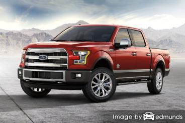 Insurance quote for Ford F-150 in Sacramento