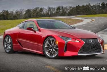 Insurance rates Lexus LC 500 in Sacramento