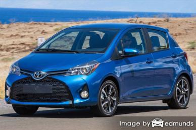 Insurance rates Toyota Yaris in Sacramento